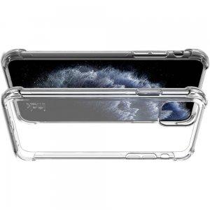 IMAK Shockproof силиконовый защитный чехол для iPhone 11 Pro Max прозрачный и защитная пленка
