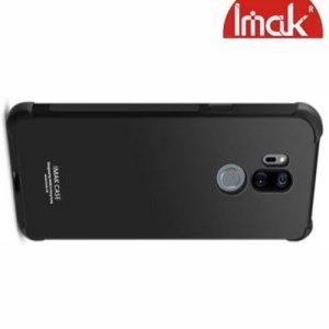 IMAK Shockproof силиконовый защитный чехол для LG G7 ThinQ черный и защитная пленка