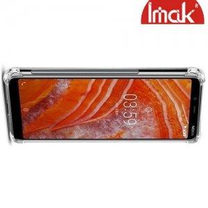 IMAK Shockproof силиконовый защитный чехол для Nokia 3.1 Plus прозрачный и защитная пленка