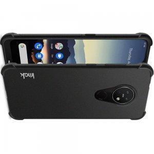 IMAK Shockproof силиконовый защитный чехол для Nokia 6.2 песочно-черный и защитная пленка