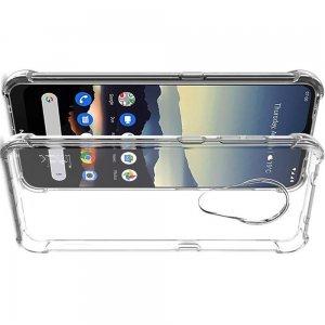 IMAK Shockproof силиконовый защитный чехол для Nokia 6.2 прозрачный и защитная пленка