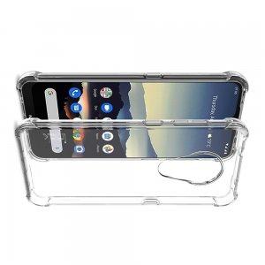 IMAK Shockproof силиконовый защитный чехол для Nokia 7.2 прозрачный и защитная пленка