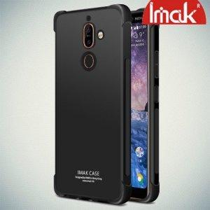 IMAK Shockproof силиконовый защитный чехол для Nokia 7 Plus черный и защитная пленка