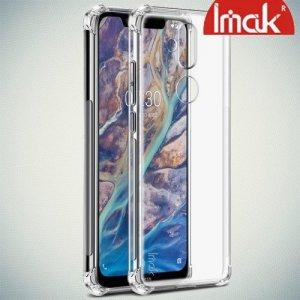 IMAK Shockproof силиконовый защитный чехол для Nokia 8.1 прозрачный и защитная пленка