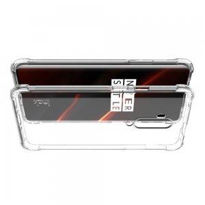 IMAK Shockproof силиконовый защитный чехол для OnePlus 7T Pro прозрачный и защитная пленка