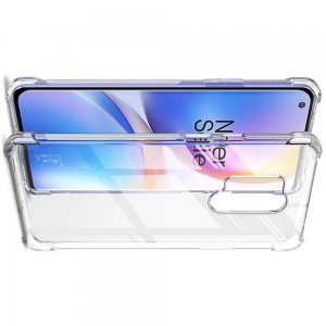 IMAK Shockproof силиконовый защитный чехол для OnePlus 8 Pro прозрачный и защитная пленка