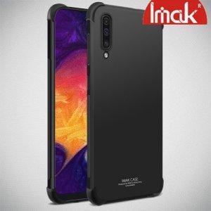 IMAK Shockproof силиконовый защитный чехол для Samsung Galaxy A50 / A30s черный и защитная пленка