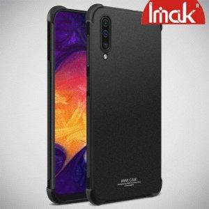 IMAK Shockproof силиконовый защитный чехол для Samsung Galaxy A50 песочно-черный и защитная пленка