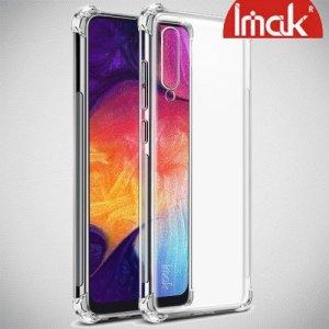 IMAK Shockproof силиконовый защитный чехол для Samsung Galaxy A50 / A30s прозрачный и защитная пленка