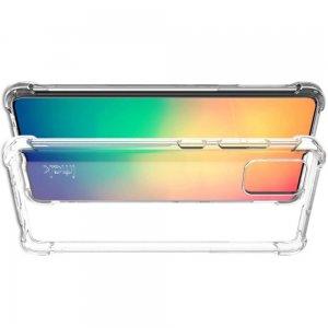 IMAK Shockproof силиконовый защитный чехол для Samsung Galaxy A51 прозрачный и защитная пленка