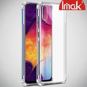 IMAK Shockproof силиконовый защитный чехол для Samsung Galaxy A70 прозрачный и защитная пленка