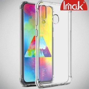 IMAK Shockproof силиконовый защитный чехол для Samsung Galaxy M30 прозрачный и защитная пленка