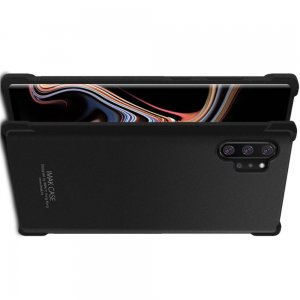 IMAK Shockproof силиконовый защитный чехол для Samsung Galaxy Note 10 Plus / 10+ песочно-черный и защитная пленка