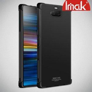 IMAK Shockproof силиконовый защитный чехол для Sony Xperia 10 черный и защитная пленка