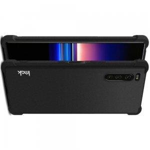 IMAK Shockproof силиконовый защитный чехол для Sony Xperia 5 песочно-черный и защитная пленка