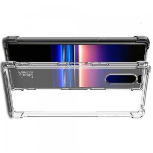 IMAK Shockproof силиконовый защитный чехол для Sony Xperia 5 прозрачный и защитная пленка