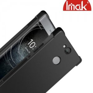 IMAK Shockproof силиконовый защитный чехол для Sony Xperia XA2 Plus черный и защитная пленка