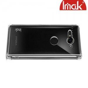 IMAK Shockproof силиконовый защитный чехол для Sony Xperia XZ2 Compact прозрачный и защитная пленка