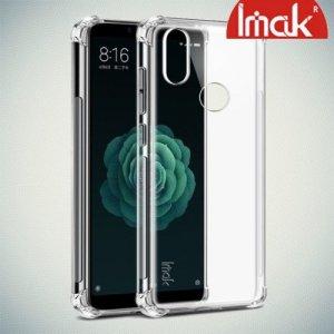 IMAK Shockproof силиконовый защитный чехол для Xiaomi Mi 6X / Mi A2 прозрачный и защитная пленка