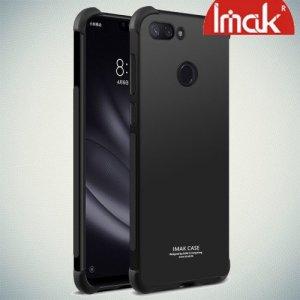 IMAK Shockproof силиконовый защитный чехол для Xiaomi Mi 8 Lite черный и защитная пленка