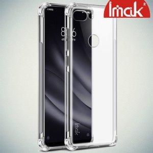 IMAK Shockproof силиконовый защитный чехол для Xiaomi Mi 8 Lite прозрачный и защитная пленка