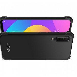 IMAK Shockproof силиконовый защитный чехол для Xiaomi Mi 9 lite черный и защитная пленка