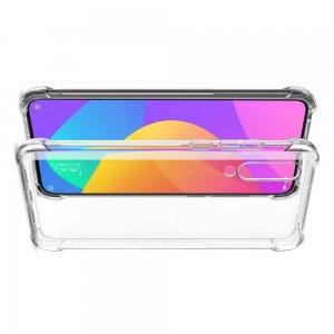 IMAK Shockproof силиконовый защитный чехол для Xiaomi Mi 9 lite прозрачный и защитная пленка