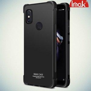 IMAK Shockproof силиконовый защитный чехол для Xiaomi Mi A2 черный и защитная пленка