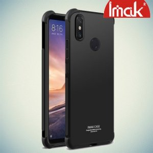 IMAK Shockproof силиконовый защитный чехол для Xiaomi Mi Max 3 черный и защитная пленка