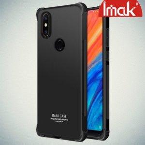 IMAK Shockproof силиконовый защитный чехол для Xiaomi Mi Mix 2s черный и защитная пленка