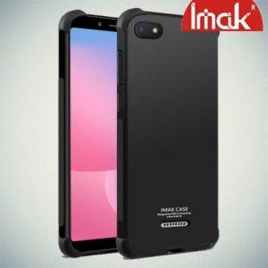 IMAK Shockproof силиконовый защитный чехол для Xiaomi Redmi 6a черный и защитная пленка