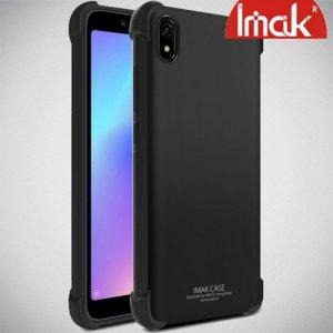 IMAK Shockproof силиконовый защитный чехол для Xiaomi Redmi 7A черный и защитная пленка
