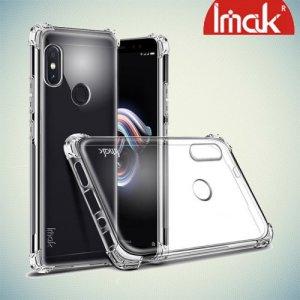 IMAK Shockproof силиконовый защитный чехол для Xiaomi Redmi Note 5 / 5 Pro прозрачный и защитная пленка