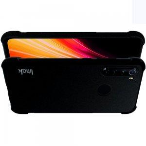 IMAK Shockproof силиконовый защитный чехол для Xiaomi Redmi Note 8T / Note 8 песочно-черный и защитная пленка