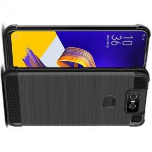 IMAK VEGA Матовый силиконовый чехол для Asus Zenfone 6 ZS630KL с противоударными углами черный