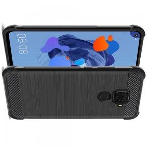 IMAK VEGA Матовый силиконовый чехол для Huawei Mate 30 Lite с противоударными углами черный