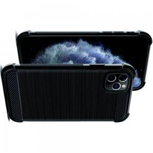 IMAK VEGA Матовый силиконовый чехол для iPhone 11 Pro Max с противоударными углами черный