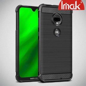 IMAK VEGA Матовый силиконовый чехол для Motorola Moto G7 с противоударными углами черный
