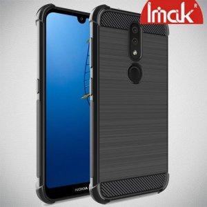 IMAK VEGA Матовый силиконовый чехол для Nokia 4.2 с противоударными углами черный