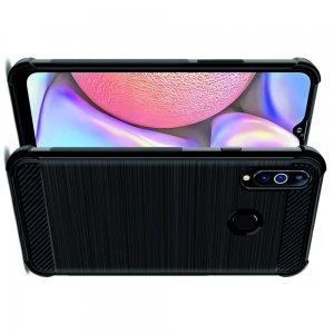IMAK VEGA Матовый силиконовый чехол для Samsung Galaxy A20s с противоударными углами черный