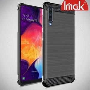 IMAK VEGA Матовый силиконовый чехол для Samsung Galaxy A70 с противоударными углами черный