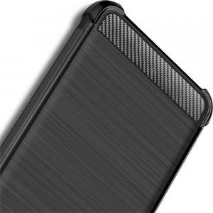 IMAK VEGA Матовый силиконовый чехол для Samsung Galaxy A70s с противоударными углами черный