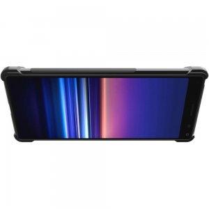 IMAK VEGA Матовый силиконовый чехол для Sony Xperia 20 с противоударными углами черный