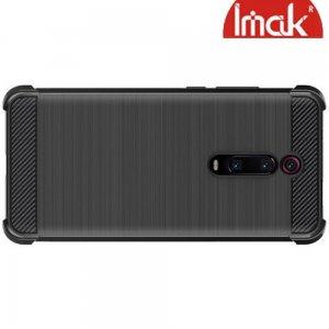 IMAK VEGA Матовый силиконовый чехол для Xiaomi Mi 9T с противоударными углами черный