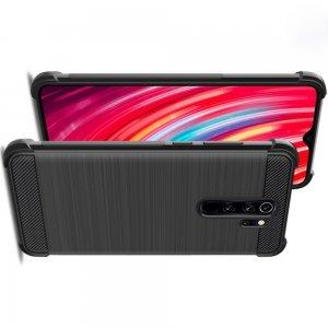 IMAK VEGA Матовый силиконовый чехол для Xiaomi Redmi Note 8 Pro с противоударными углами черный
