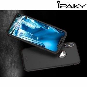 iPaky 360 series чехол для iPhone Xs / X с полной защитой корпуса – Черный