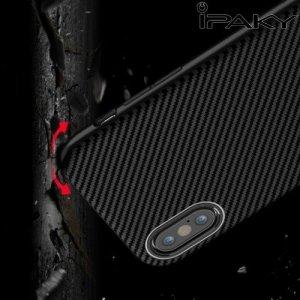 IPAKY Гибридный матовый чехол для iPhone Xs Max - Черный