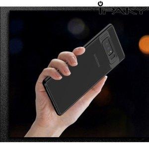IPAKY Hybrid Прозрачный чехол с силиконовым бампером для Samsung Galaxy Note 8 - Черный
