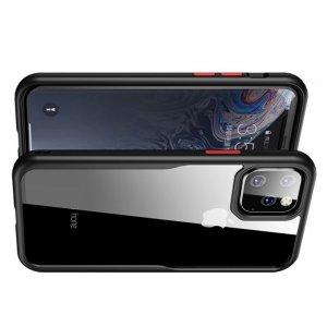 iPaky Hybrid прозрачный двухкомпонентный пластиковый чехол для iPhone 11 Pro Max - черная силиконовая рамка