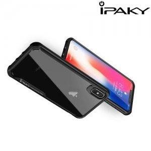 iPaky Hybrid прозрачный двухкомпонентный пластиковый чехол для iPhone XR - черная силиконовая рамка